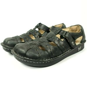 Alegria Pesca Brown Leather Fisherman Sandals